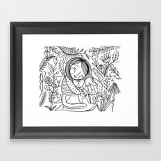 Love my puppets Framed Art Print