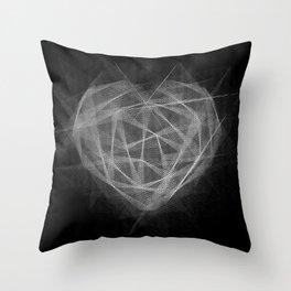 Coração Transcrito 2 Throw Pillow