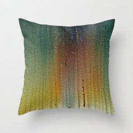 Metal rainbow surface Throw Pillow