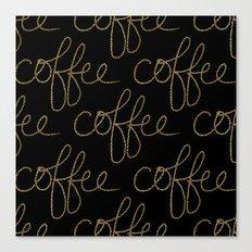 Coffee Dots Canvas Print