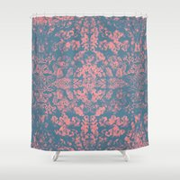 coral Shower Curtains featuring Coral by Pepe Psyche