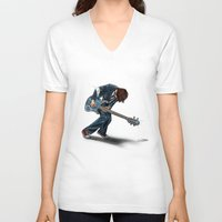 doctor V-neck T-shirts featuring Doctor?? by Onebluebird