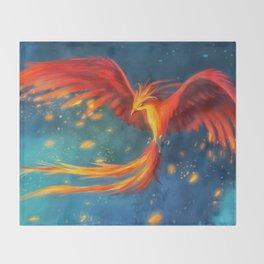 Beautiful phoenix Throw Blanket