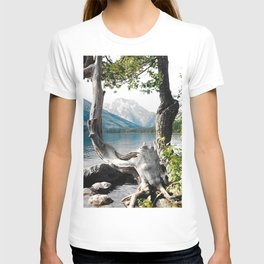 Tetons at Jackson Lake Wyoming T-shirt