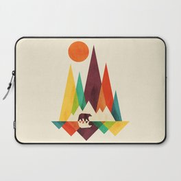 Bear In Whimsical Wild Laptop Sleeve