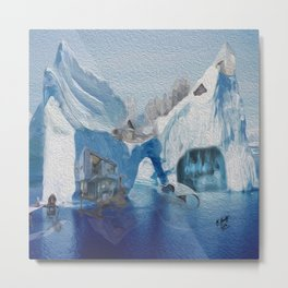Iceberg city  Metal Print