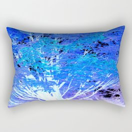 Blue Violet tree leaves Rectangular Pillow