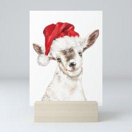 Oh My Christmas Goat Mini Art Print