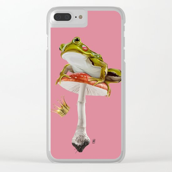Kiss (Colour) Clear iPhone Case