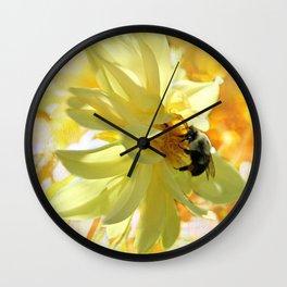 Busy Bumble Bee Wall Clock
