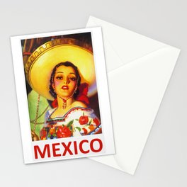 Vintage Mexico Travel Poster Stationery Cards