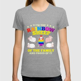 LGBT pride rainbow sheep family gift T-shirt