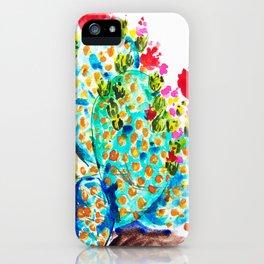 Blue Cactis iPhone Case