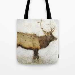 Grand Canyon Elk No. 1 Wintered Tote Bag