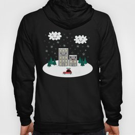 Kawaii Winter Town Hoody