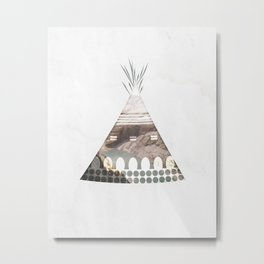 Tipi Number 3 Metal Print
