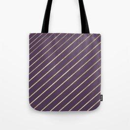 Elegant faux gold purple modern geometrical Tote Bag