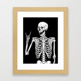 Rock and Roll Skeleton Gerahmter Kunstdruck