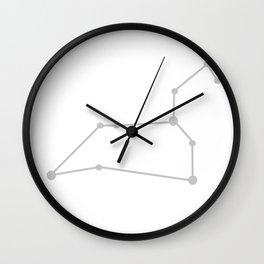 Leo (Silver & White) Wall Clock