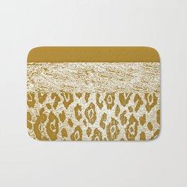 Animal Print Golden Cream Pattern Bath Mat