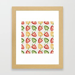 Mixed Peppers Pattern Framed Art Print