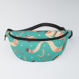 Vintage Christmas Seamless Pattern Fanny Pack