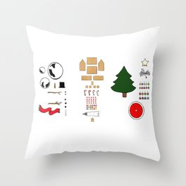 Deconstructed Christmas: Gingerbread House Throw Pillow