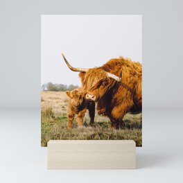 Scottish Highlanders - Mom and Child Mini Art Print