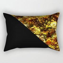 Golden Triangle - Abstract, geometric, Black And Gold Foil Artwork Rectangular Pillow