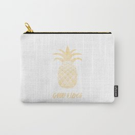 Good Vibes: Gold Pineapple Carry-All Pouch