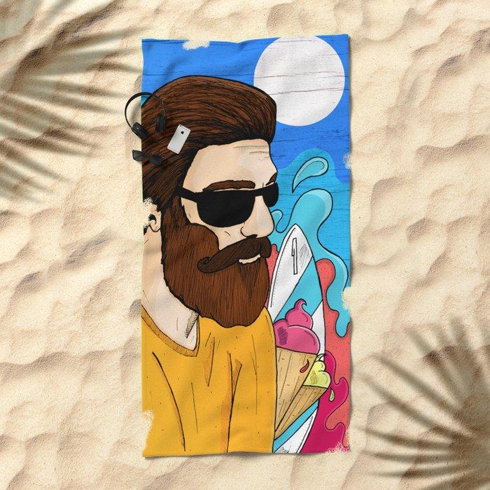 Summer Beard Beach Towel