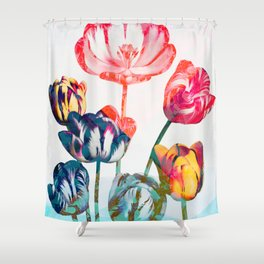 Floreal - Tulip Flowers Surreal Daydream Shower Curtain