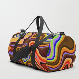 Colourful fluid abstract Duffle Bag