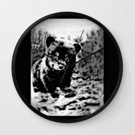 Bear Models: Black Bear Cubs 01-04 Wall Clock