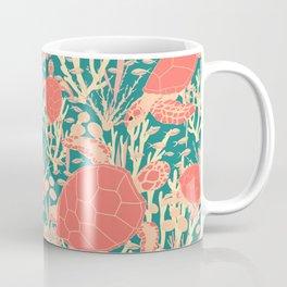 Turtles Coral Reef Underwater Pattern Coffee Mug