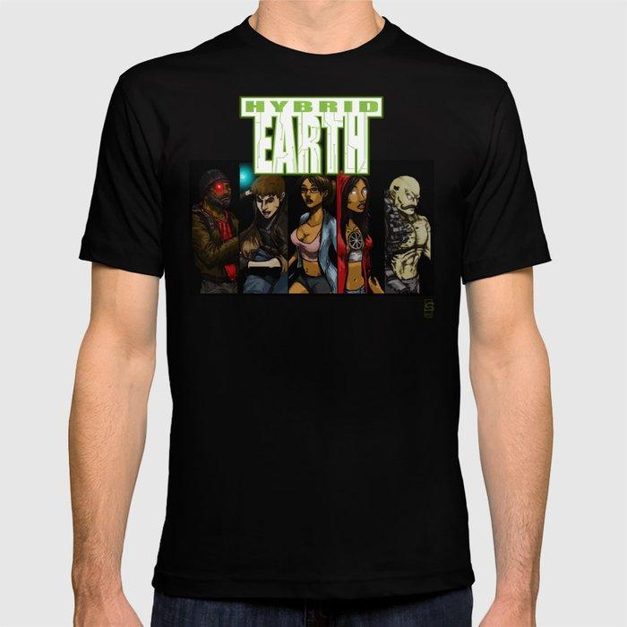 HYBRID EARTH Characters T-shirt