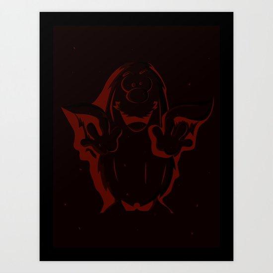Captain Caveman Frozen So-lid Art Print