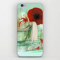 bath iPhone & iPod Skins featuring Bath by Drawberry