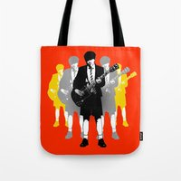 acdc Tote Bags featuring Taking The Lead by Alan Hogan