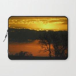Dramatic Winter Sunset Laptop Sleeve