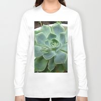 succulent Long Sleeve T-shirts featuring Succulent by Sara Valor