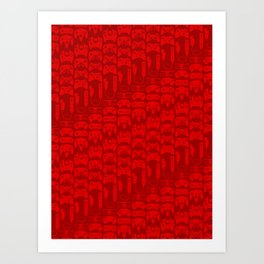 Video Game Controllers - Red Art Print