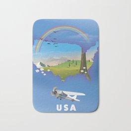 USA map. Bath Mat