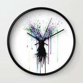 Colorful deer Wall Clock