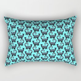 Blue Snobby Cats Rectangular Pillow