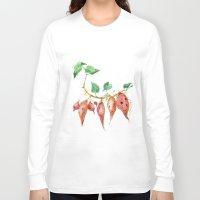potato Long Sleeve T-shirts featuring Sweet potato by Ksenia Sapunkova