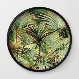 Tropical Palm Wall Clock