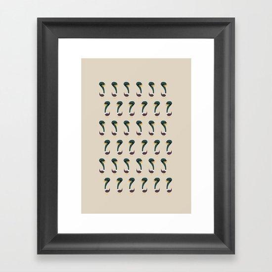 Squag - Pattern Framed Art Print