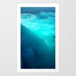 sea of blue Art Print
