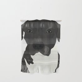 Atticus the Pit Bull Wall Hanging